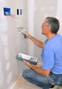 Instalação de parede de Drywall